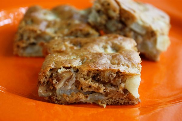 Apple Brownies- no butter or oil | into the cookie jar | Pinterest
