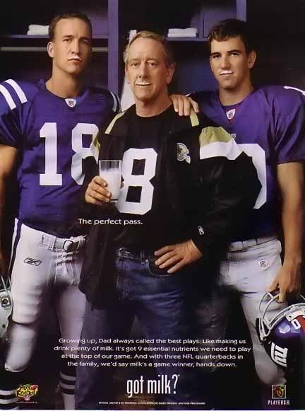 Peyton, Archie, and Eli Manning, Got Milk?