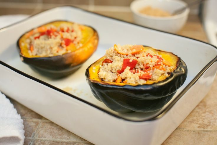 Quinoa Stuffed Acorn Squash | food | Pinterest
