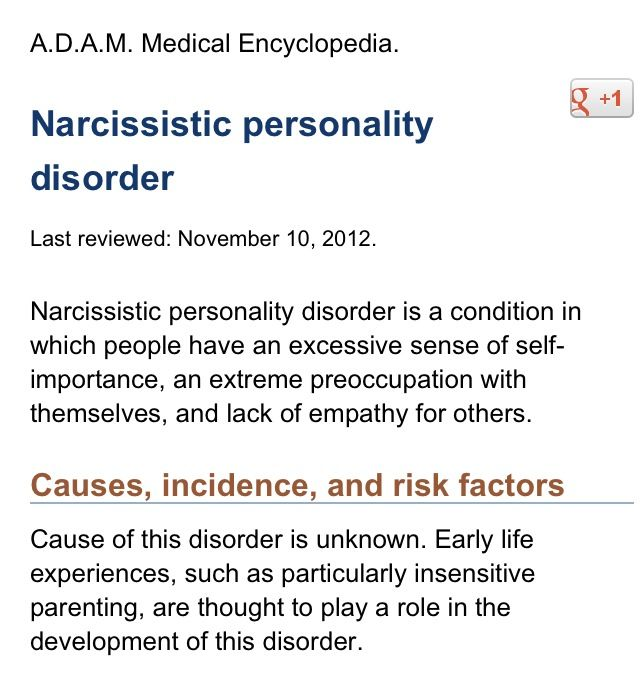 Narcissistic Personality Disorder, Surviving a Narcissist. http ...