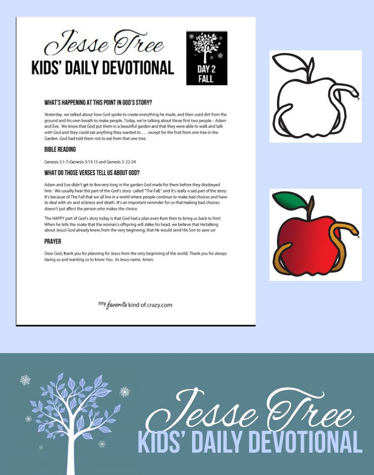 Daily Devotional: Jesse Tree Day 2 Podcast for kids, free printable ...