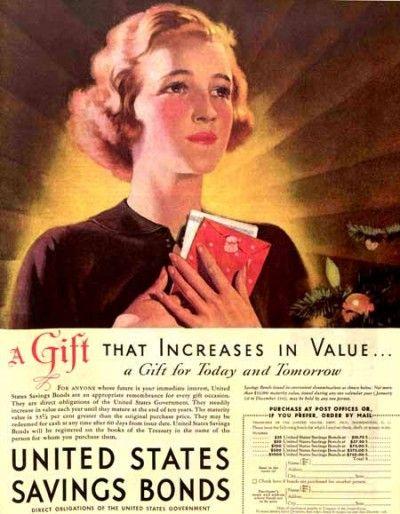 1936 U.S. Savings Bond advertisement. The Saturday Evening Post.