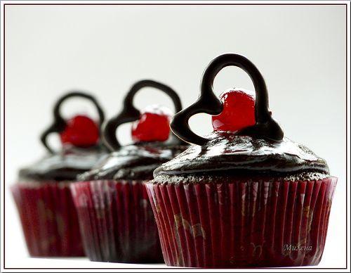 Chocolate- Cherry Cupcakes   Cupcakes...   Pinterest
