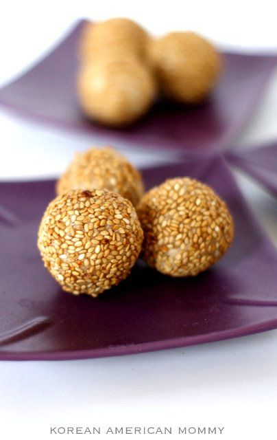 sesame seed balls - sweet and delicious! | Tasty Treats | Pinterest