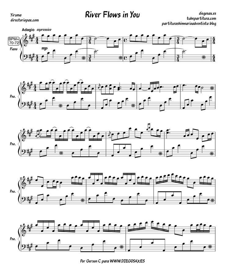 River Flows in you piano sheet #1 : Piano sheets : Pinterest