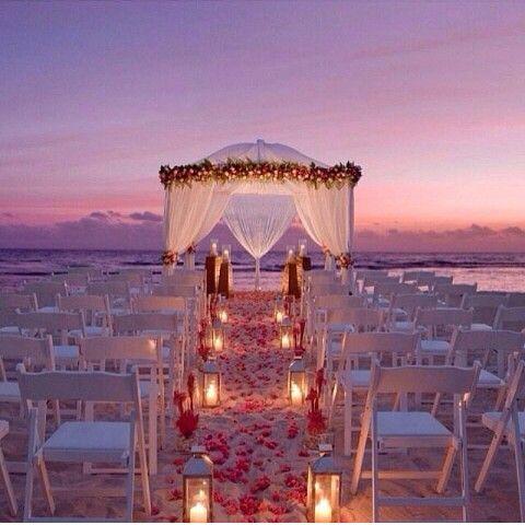 beach wedding set beautiful �� my dream wedding pinterest
