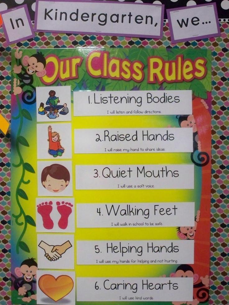 kindergarten class rules | Classroom | Pinterest
