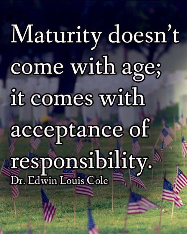 age of responsibility The age of responsibility, 21, is a completely arbitrary age chosen unintelligibly by a group of men because (greenblatt 22) it would be extremely difficult to make a solid age of responsibility since.