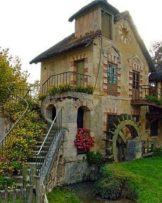 Just outside Paris, built as a rustic retreat for Marie Antoinette on the grounds of the Palace of Versailles they are among 12 cottages at her Hameau de la Reine (1785 and 1792)