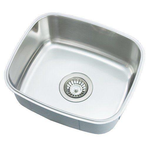 Oliveri Stainless Steel Sinks : Oliveri 430 U Stainless Steel Sink Single Basin Deep Down Undermount