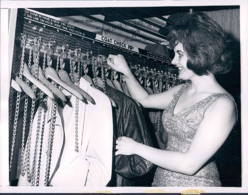 1966 Chicago coin-op coat check machine -- odd!