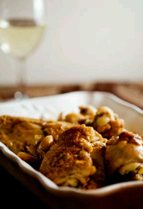 garlic chicken with white wine sauce | week night dinner ideas | Pint ...