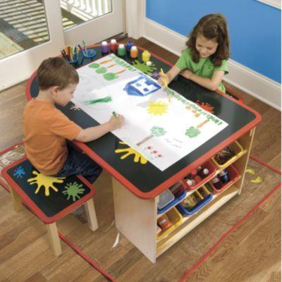 good arts and crafts table kids pinterest. Black Bedroom Furniture Sets. Home Design Ideas