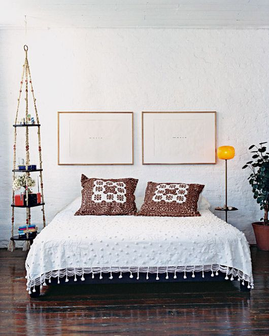 Pared back bedroom