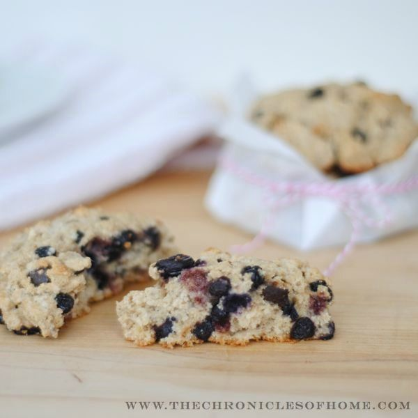 The Chronicles of Home: Double Buttermilk Blueberry Almond Scones