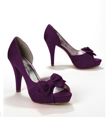 The David Bridal Shoes in Plum. http://www.davidsbridal.com/Product