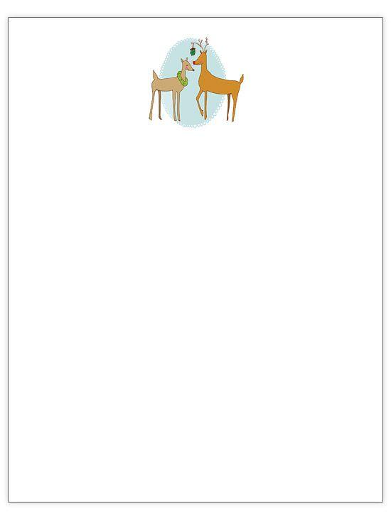 Mistletoe Deer - Christmas letter template