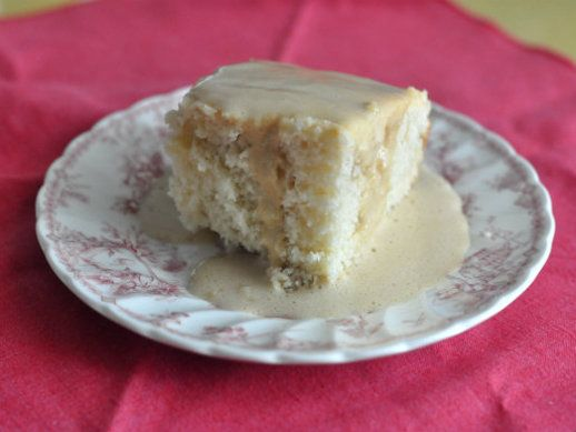 Cottage Pudding with Brandy Caramel Sauce | Recipe