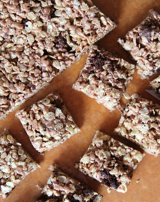 brownie batter rice krispies!