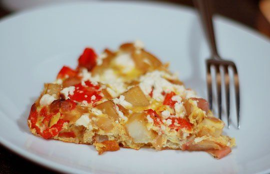 Potato, Red Pepper, and Feta Frittata | Healthy receipe exchange and ...