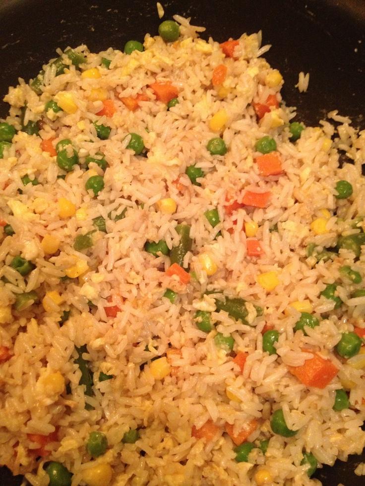 Quick veggie egg fried rice ;) #Fried #Veggies #FriedVeggies