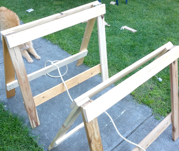 how to make trestle legs
