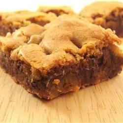 Blonde Brownies I Allrecipes.com | yummy splurge | Pinterest