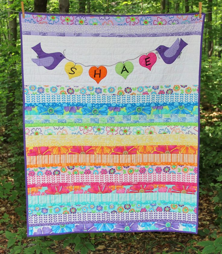Baby jelly roll strip quilt. baby quilt Pinterest