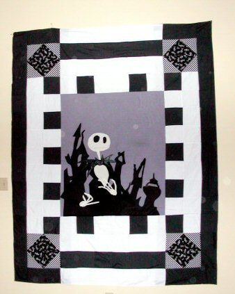 Nightmare Before Christmas Jack Skellington Quilt from Wists.