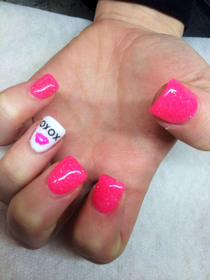 valentine's day gel nail designs