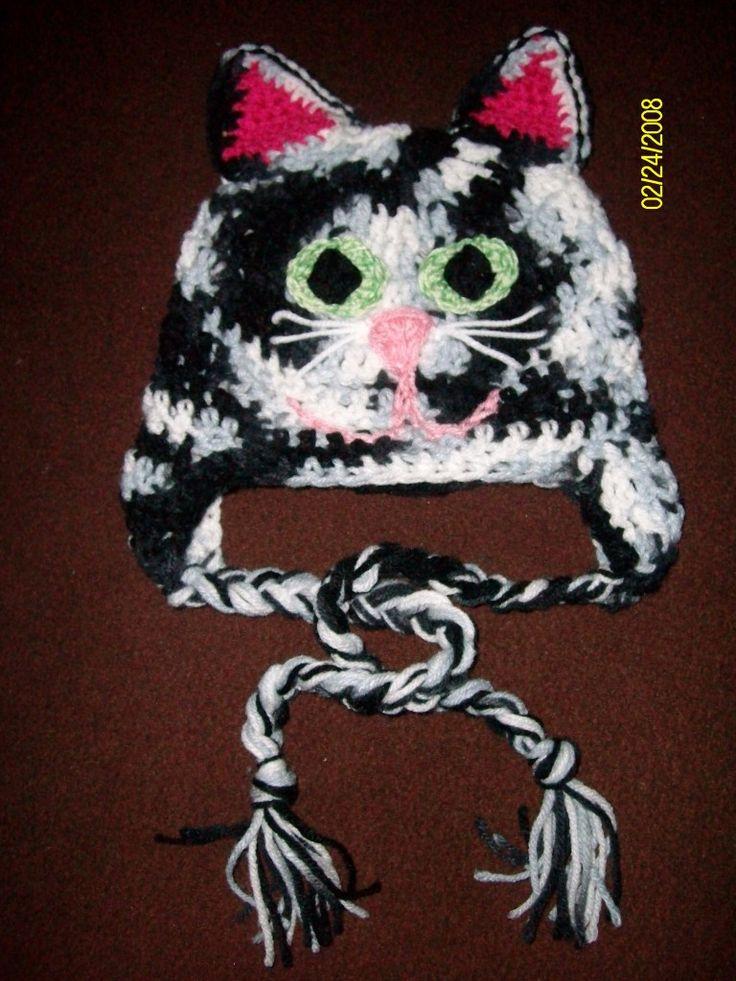 Crochet Kitty Hat : Crochet Kitty hat Crochet Pinterest