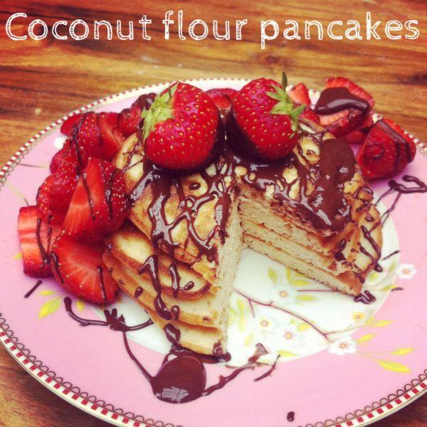 coconut flour pancakes | Crazy for Coconut! | Pinterest