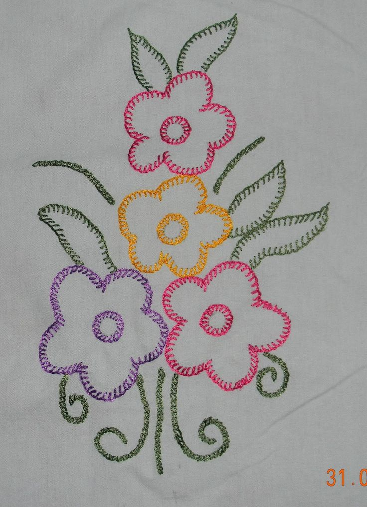 Hand embroidery stitches stitch pattern of