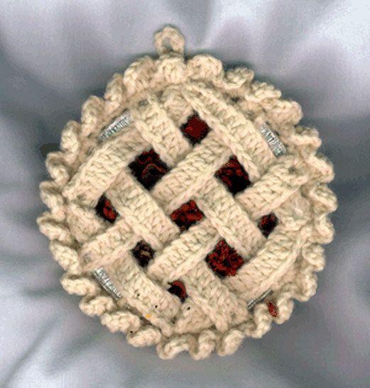 Crochet Patterns Kitchen Towel Toppers : Crochet Towel Topper & Sachet Patterns - Cherry Pie Kitchen Pattern ...
