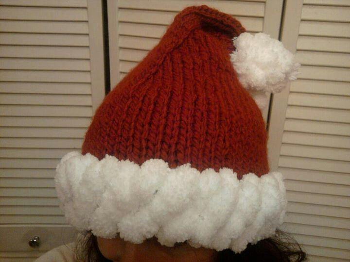 Santa Hat Knitting Pattern : Knit santa hat Yarn... Pinterest