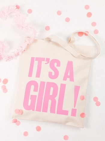 It's a Girl tote from Alphabet Bags!