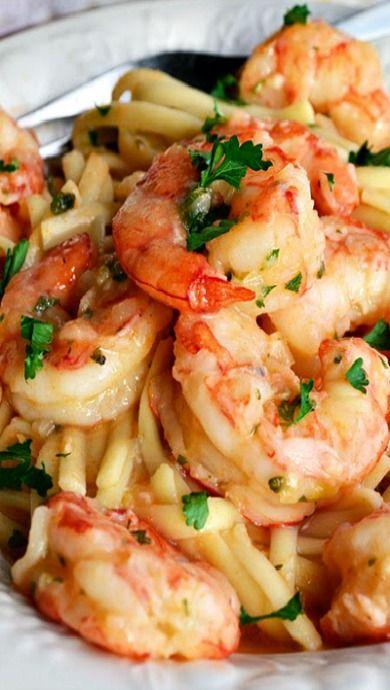 Linguine with Shrimp, Garlic and Lemon | Recipe