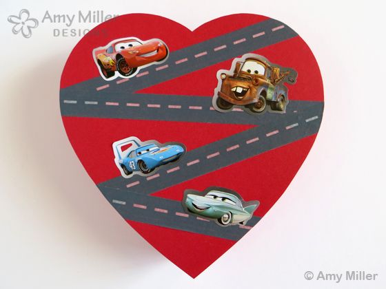 cars valentine's day coloring pages
