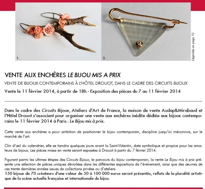 CIRCUITS BIJOUX - vente aux encheres - 11 FEVR http://www.circuitsbijoux.com/docs/pdf/CP_Vente_CB_13_dec.pdf