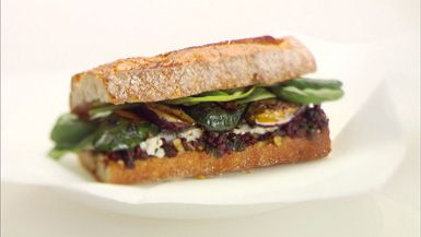 ... grilled vegetable, herb and goat cheese sandwiches from Giada De