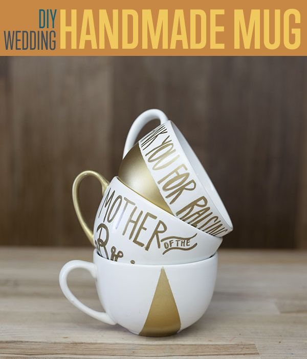 DIY Wedding Gifts Hand Painted Gold Mugs Need a personalized DIY ...