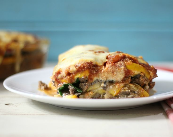 ChooseDreams - A thick, hearty noodle-less lasagna made with zucchini ...