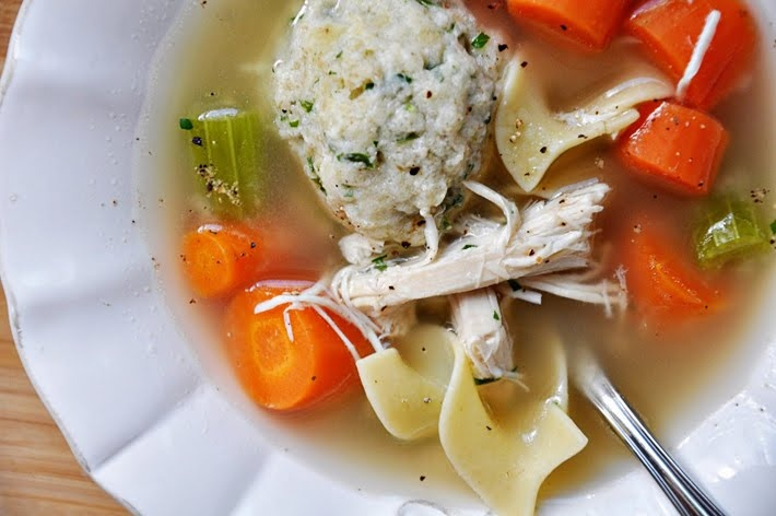 Chicken Noodle Soup with Matzo Balls. Leave noodles out for ...