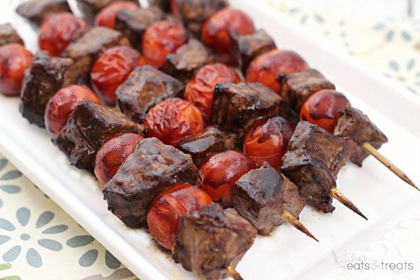 Balsamic Steak Skewers ~ Tender Steak Marinated in a Tangy Balsamic ...