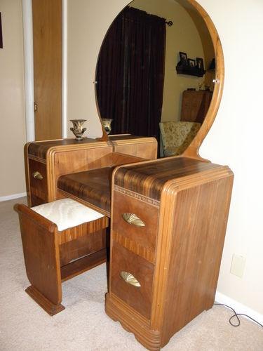 Art Deco Waterfall Dresser Art Deco Waterfall Vanity Furniture Redo