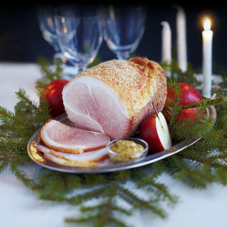 Roast ham with mustard | Appetizers | Pinterest
