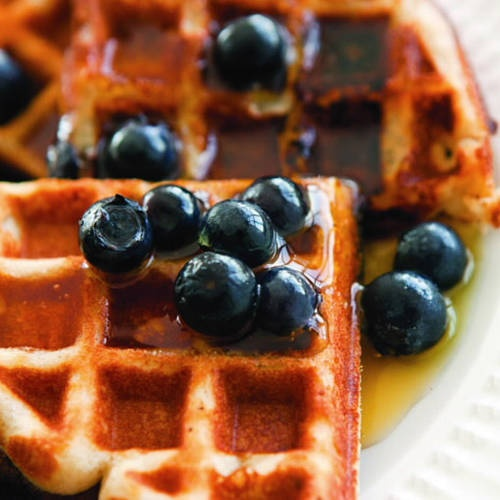 Gluten-Free Blueberry Waffles. These are incredibly good! Best waffles ...