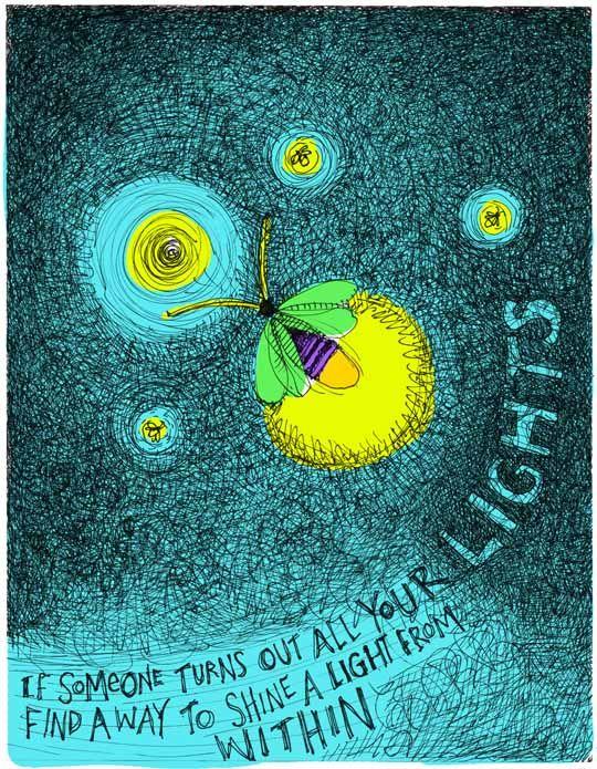 Awesome Fireflies art piece by Tim Coffey