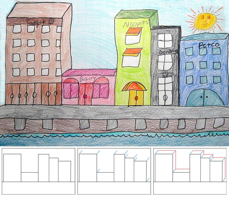 how to draw city buildings
