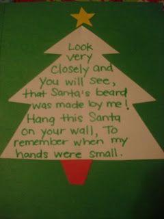 christmas tree handprint poem - photo #14